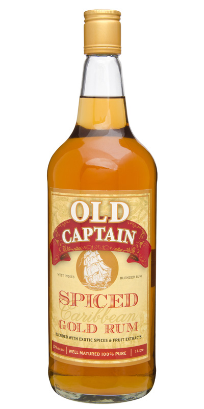 Old captain spiced gold rum kings liquor for Mix spiced rum with
